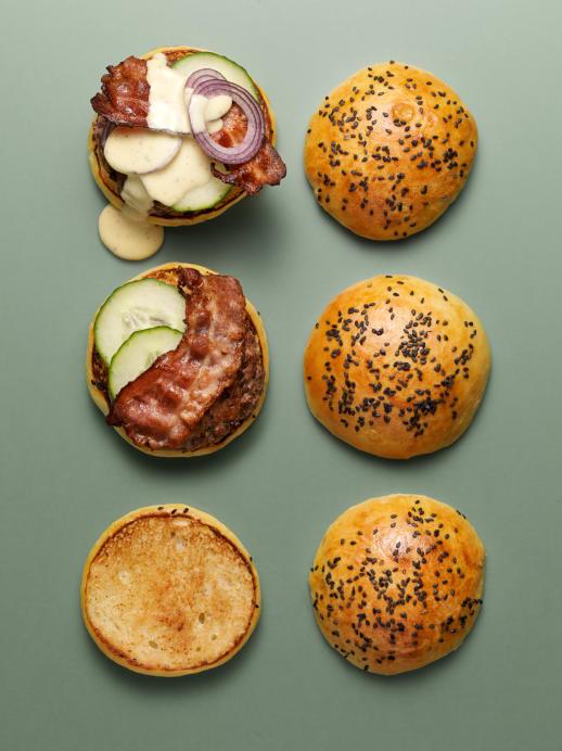 Herz-Burger mit Ingwer und Koriander