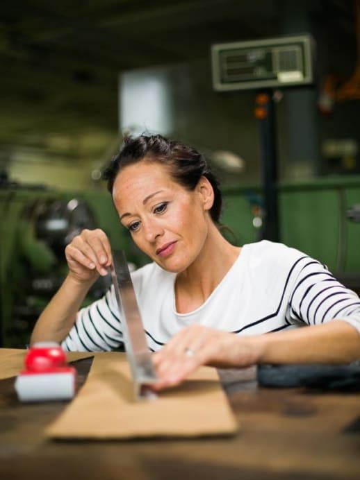 Setzt auf Handarbeit: Unternehmerin Karin Sieber-Graf