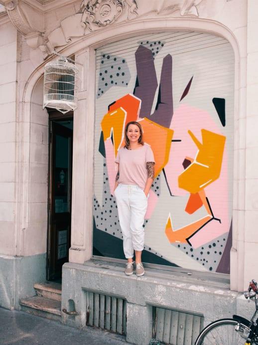 Mutige Jungunternehmerin: Andrea Schmeitzky mit Café Salon