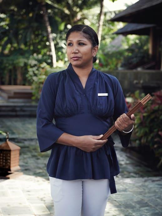 Chef-Gästebetreuerin Deepa Rughoonundun
