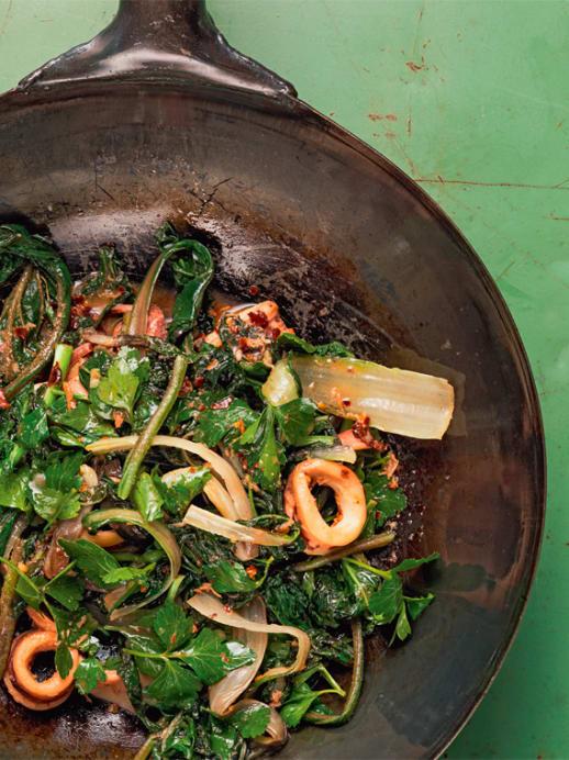 Schön gesund: Rezept für asiatisches Gemüse mit Calamares