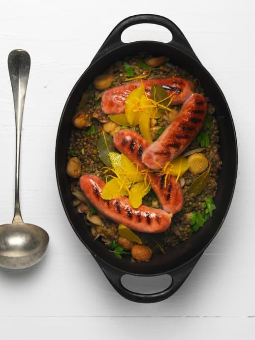 Rezept: Lenticchie Alla Montanara oder einfach Linsen-Marroni-Eintopf