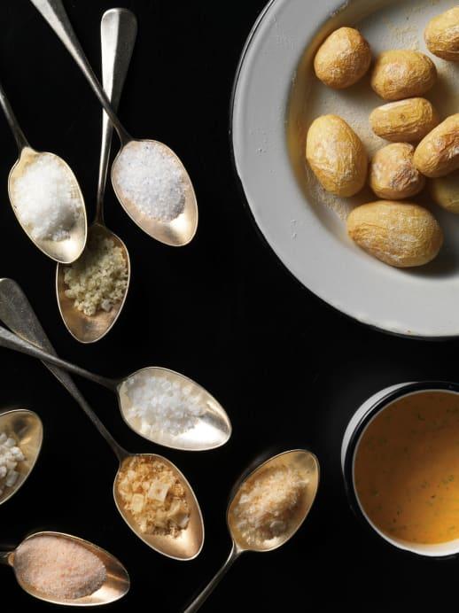 Rezept mit Salz: Papas arrugadas mit Peperoni-Dip