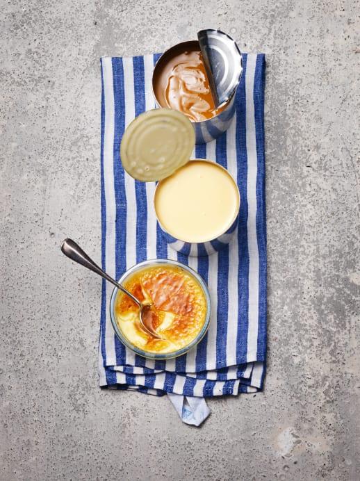 Rezept für Crème brûlée mit Kondensmilch