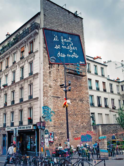 Postkarte aus Paris: Quartier Belleville