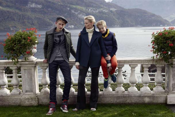 Festliche Mode mit Schweizer Ex-Model und Familie