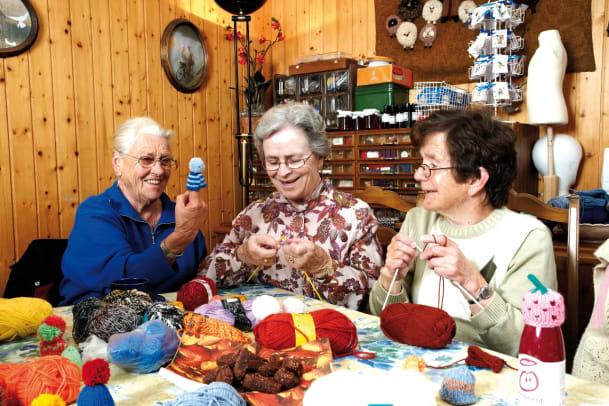 Stricken für Senioren