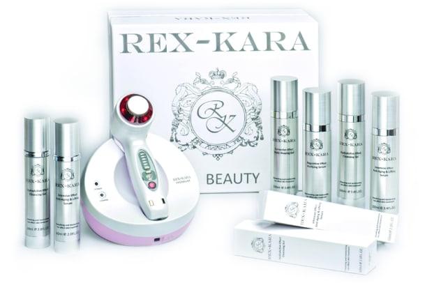 Wie ein Kosmetikstudio in der Handtasche: Rex Kara Anti-Aging Innovation