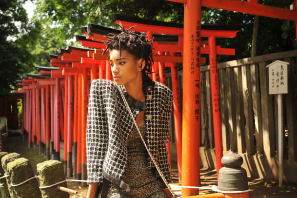 Mit Willow Smith in Tokio