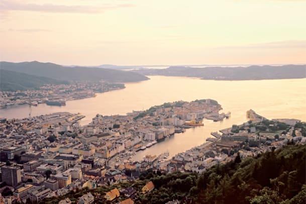 Postkarte aus Bergen