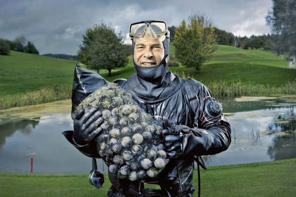 Der Golfballtaucher