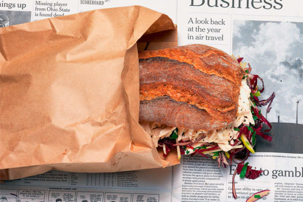 Feines Poulet-Sandwich aus Resten