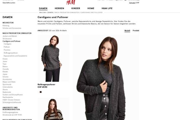 Neuer Online-Shop bei H&M