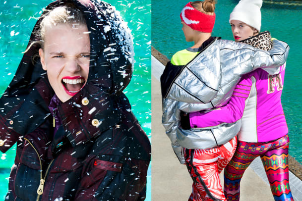 Wintermode: Bunte Outdoorbekleidung für kalte Tage