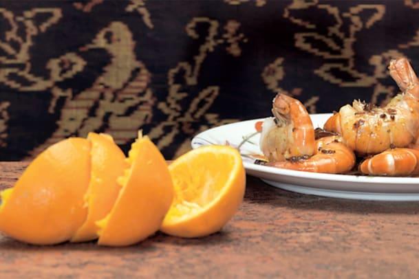 Orangen-Shrimps