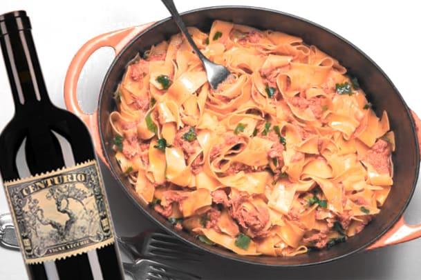 Wein-Tipp zu Pasta mit Brasatosugo: Centurio Primitivo 2011