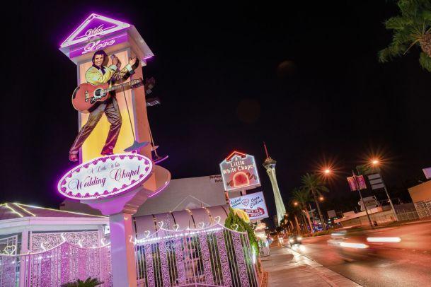 Eine Nacht in der Little White Wedding Chapel in Las Vegas