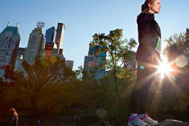 Marathon in NYC – Sarah rennt