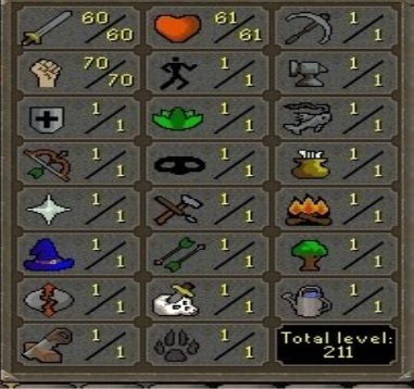 60 Attack / 70 Strength / 1 Defence