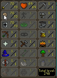 70 Attack/ 70 Strength / 70 Defence