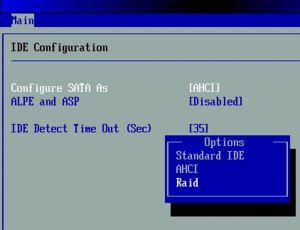 Режим контроллера AHCI в Bios