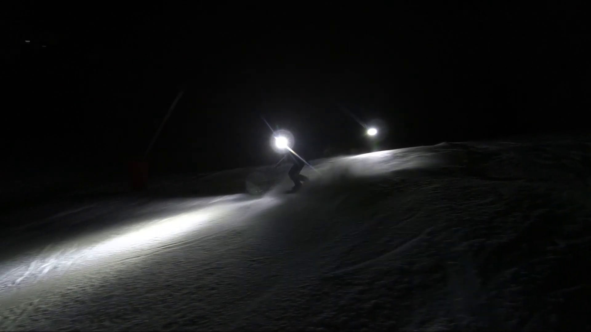night skiing in french mountains
