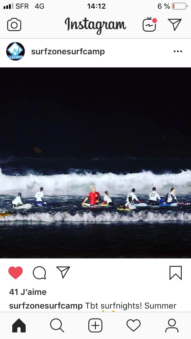avis cours surf de nuit surfzone