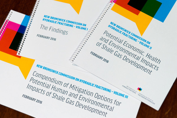 New Brunswick Commission on Hydraulic Fracturing releases final, three-volume report