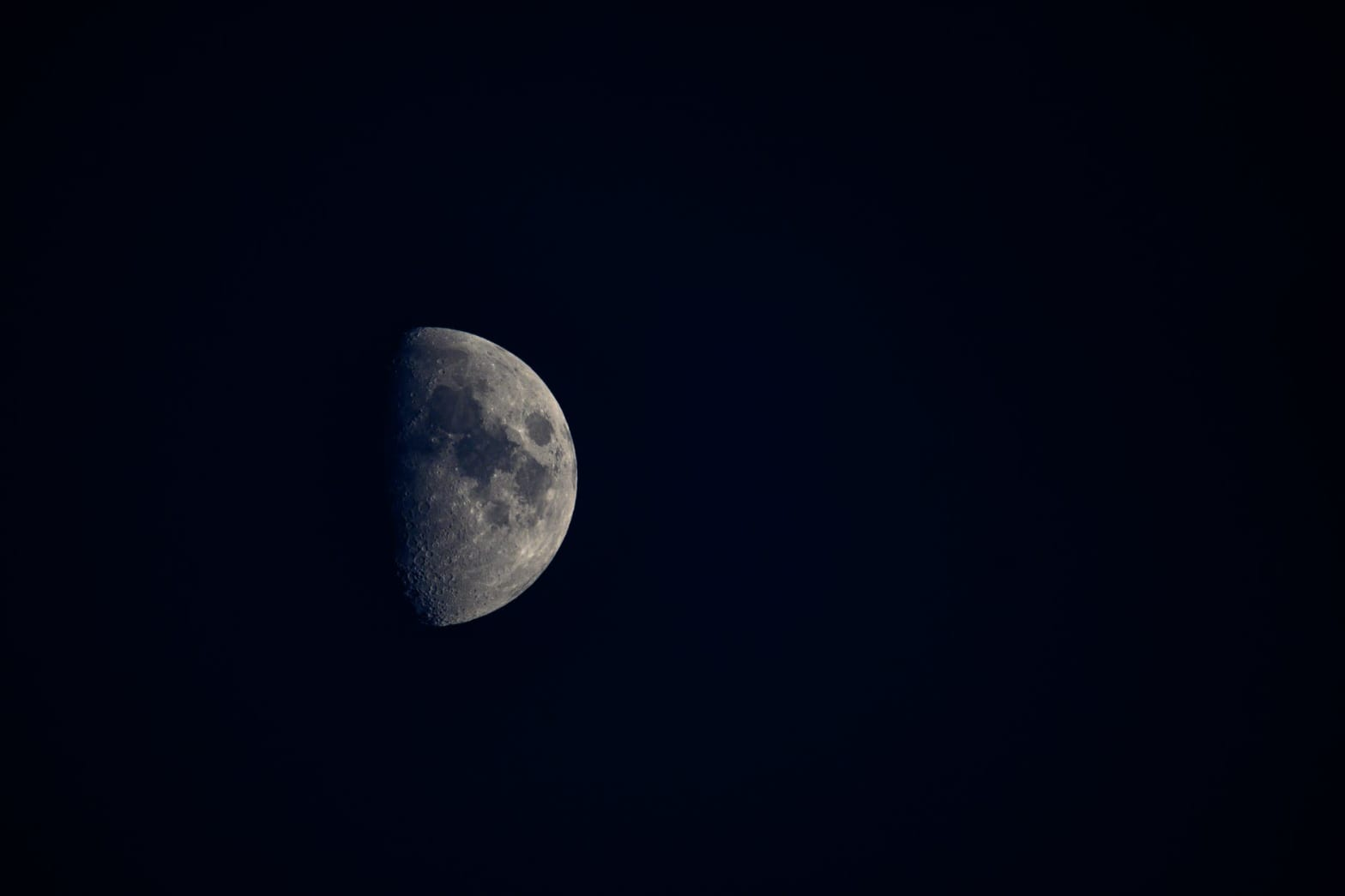 half moon on dark background