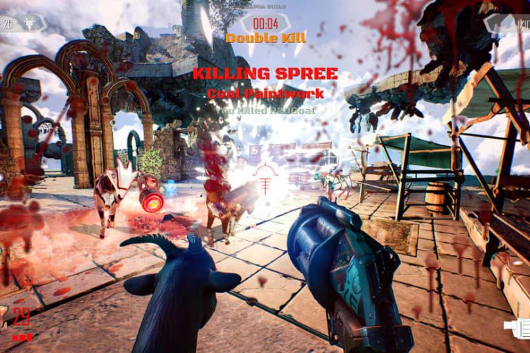 Parodiska onlineskjutaren Goat of Duty är ute i early access nu