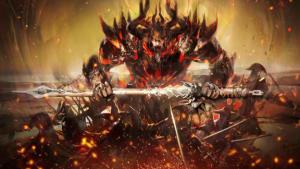 Bild från Guild Wars 2 där en gubbe brinner.