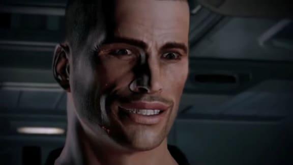 Mass Effects Commander Shepard busringer vapenaffärer