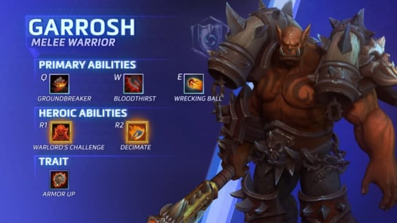 Heroes of the Storm-hjälten Garrosh är spelbar nu