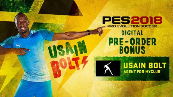 Usain Bolt är av någon anledning med i PES 2018