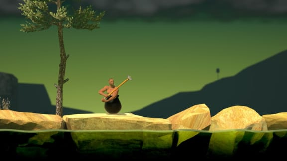 Kolla in det nya världsrekordet i Getting Over It with Bennett Foddy!