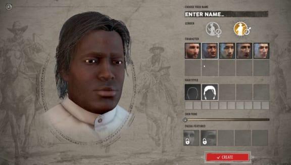 Så här ser det ut när man skapar en karaktär i Wild West Online