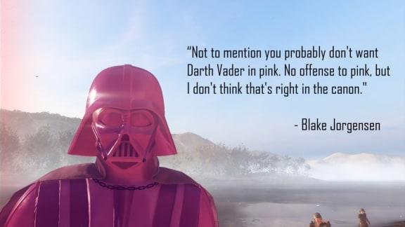 Nu kan du spela som en rosa Darth Vader i Star Wars: Battlefront 2