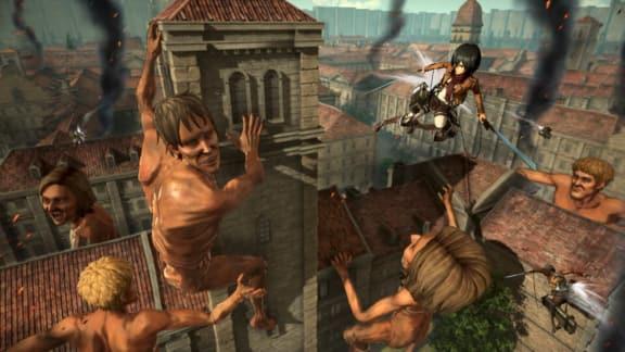Här är introt till Attack on Titan 2!