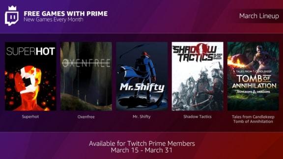 Twitch Prime kommer börja inkludera spelpaket varje månad