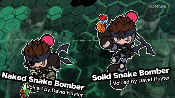 Solid Snake från Metal Gear dyker upp i Super Bomberman R!