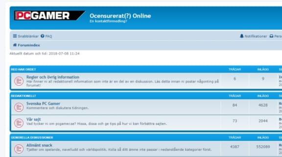 Skärmdump av vårt fin forum!