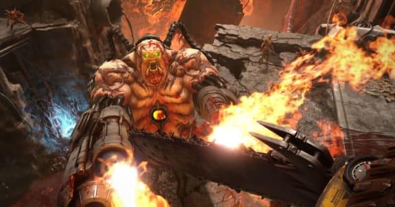 Kolla in en match från Doom Eternals högintressanta multiplayerläge