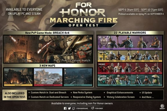 For Honor: Marching Fire inleder öppet betatest på torsdag