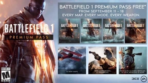 Battlefield 1 Premium Pass kommer ges bort i en vecka efter Battlefield V-betan