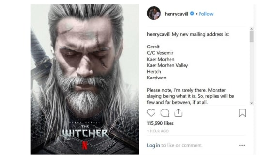 Henry Cavill har fått rollen som Geralt i Netflix The Witcher-serie