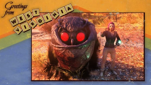 Spelare har hittat Mothman i Fallout 76, verkar ganska snäll