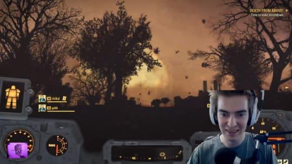 Streamare lyckades avfyra en atombomb i Fallout 76-betan