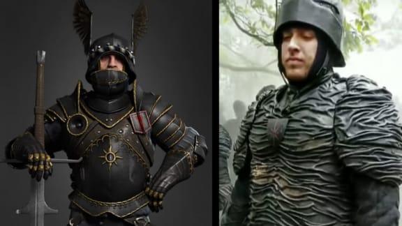 Nilfgaard-rustningarna ser inte särskilt imponerande ut i Netflix The Witcher-serie