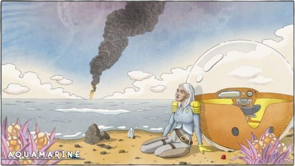 """Aquamarine är ett """"tystlåtet överlevnadsäventyr"""" i ett utomjordiskt hav"""