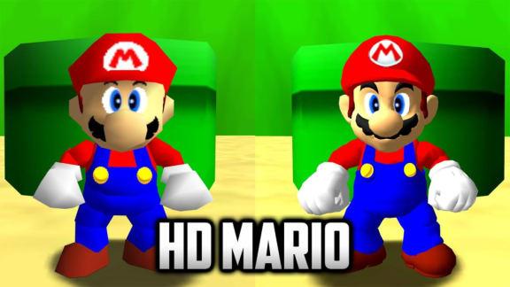 Nu har HD-Mario kommit till pc-portningen av Super Mario 64!